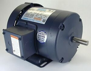 1.5HP 3PH 1725RPM 145T 230/460V TEFC LEESON ELECTRIC MOTOR #120922