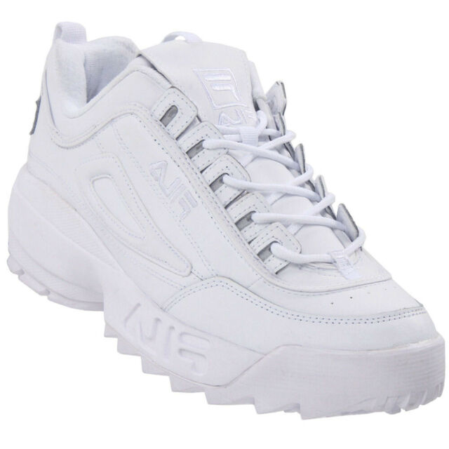 FILA Mens Disruptor II Premium White
