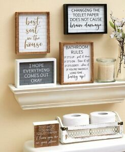 Humorous Fun Home Decor Bathroom Signs Plaques Ebay