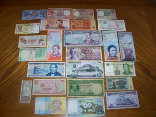 Lot of 25 Different Bank Notes from Various Countries CL1