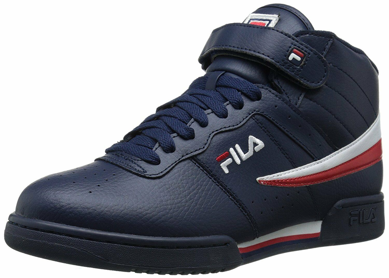Fila Mens F-13V Lea/Syn Fashion Sneakers, Navy/White Red, 7 M US Comfortable and good-looking