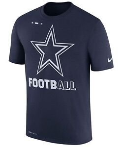 f62406238 NIKE NFL DALLAS COWBOYS Dri-Fit Football Legend T-Shirt Navy (MEN S ...