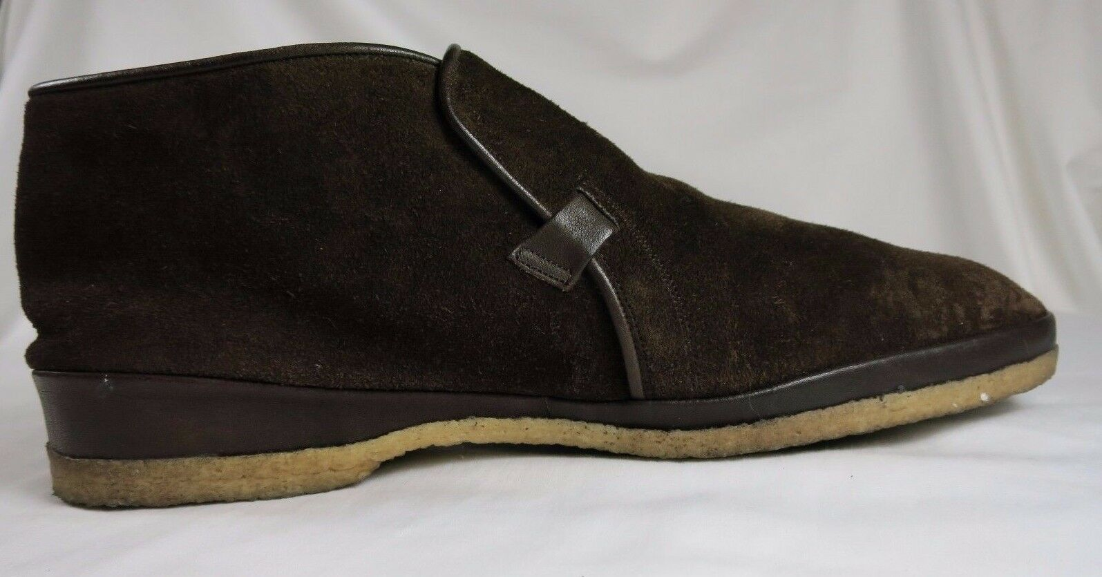 Bruno Magli Dark Brown Suede Slip On Chukka Chukka Chukka Boots DESIO 8.5 Medium 40106e