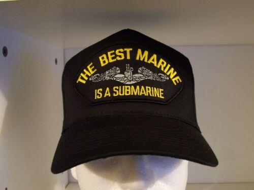 #1468 The Best Marine is a Submarine Ballcap Cap Hat