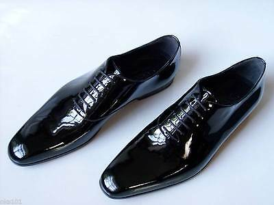 db92e586897 Mens pointy toe dress formal patent leather wedding shoes elevator ...