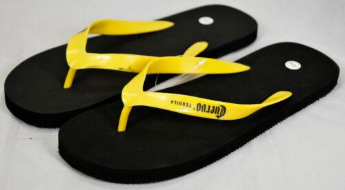 Strandlatschen Cuervo Tequila schwarz//gelb Größe 43//44 Badelatschen
