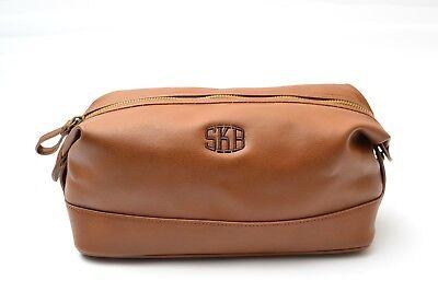 Hombre Marrón Neceser Higiene Regalo Personalizado Kit de Viaje Calidad Bolso | eBay
