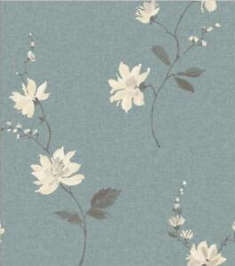 Ideco Luxe Japonais Orchidee Floral Fleurs Feuille 10m Rouleau