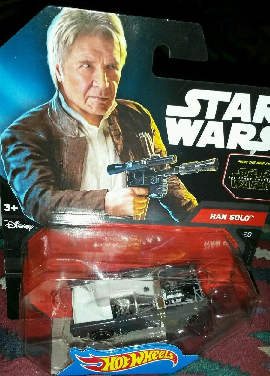 HOT WHEELS CHARACTER CARS STAR WARS HAN SOLO DISNEY MINT PICTURE CARD