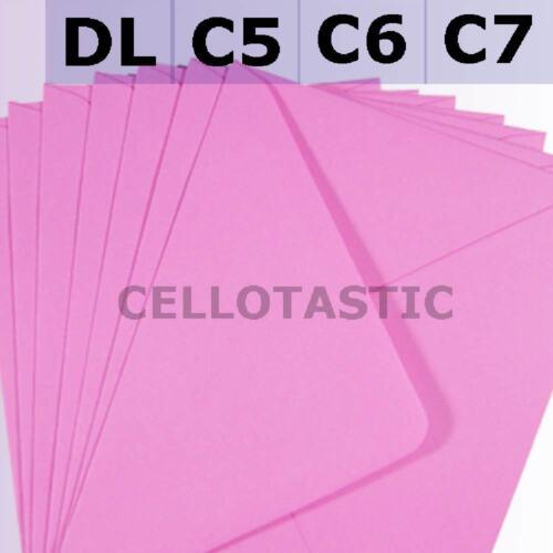 Choice of Colours /& Quantities 133x184 Premium Quality 100GSM 7X5 Envelopes