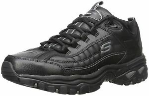 Sport Mens Energy Afterburn Lace-Up Sneaker,Black,12 M Skechers