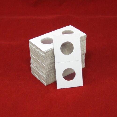 100 Cardboard 2x2 Coin Holder Mylar Flips for Quarters