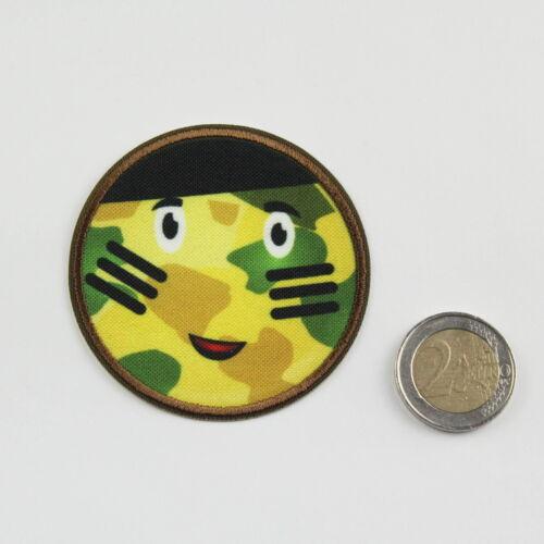 De haute qualité Application Patch brodé Collante-Smiley tarnfarben Ø 6,5 cm NEUF