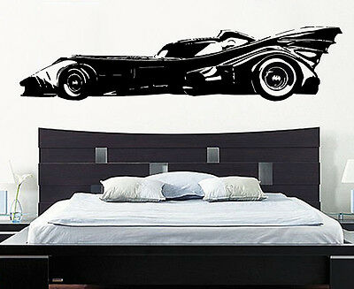 Batman Batmobile Car Superhero Justice League Gotham Decal Wall Sticker Picture