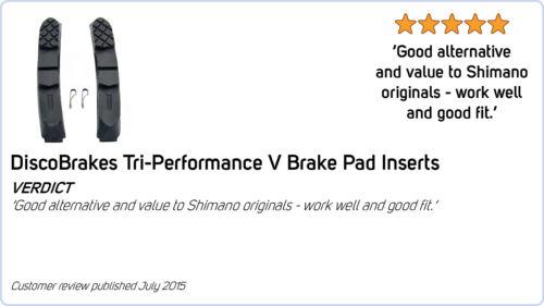 Yellow Insert Rubber Pads for 72mm V Brake Cartridge Shoes Shimano SRAM Avid