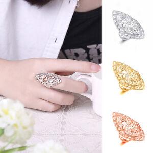 1PC Plated Hollow Big Wedding Ring Size 6,7,8,9,10 Women Fashion Jewelry @new