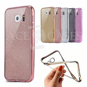 Brillante-Silicona-con-Brillos-Calce-Ajustado-Funda-para-Samsung-Galaxy-S8-S7-S6