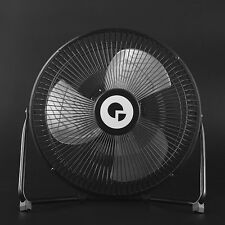 Cool Desk Fan Large Black Metal Electrical Rotatable USB Rechargeable Battery