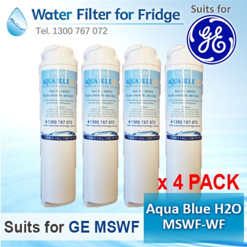 4x REPLACEMENT FRIDGE WATER FILTER FOR GE MSWF AQUA BLUE H2O MSWF-WF PREMIUM