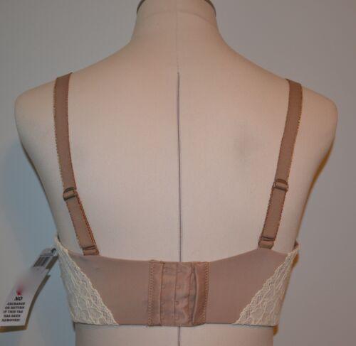 Parisa Fe Florence Convertible Plunge Bra 32DD  Lace Beige  #PT1037 Brown Sugar