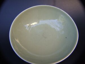 VINTAGE-MARTIN-BOYD-AUST-GREEN-POTTERY-BOWL-HAND-SIGNED-RETRO-60-039-S