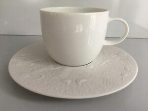Design: Björn Wiinblad Cup Lotus Saucer weiß Rosenthal Tasse Untertasse