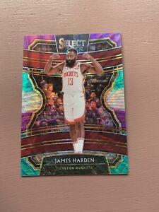 2019-20-Panini-Select-Basketball-James-Harden-Green-Pink-Silver-Prizm