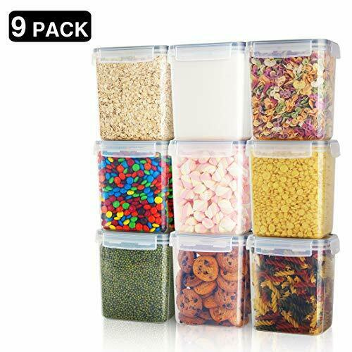 Vtopmart 7 Pieces BPA Free Plastic Cereal Airtight Food Storage Containers Set
