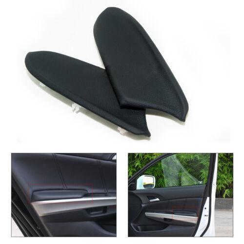 Schwarz 1PAAR Auto Hintere Tür Paneele Armlehne Cover Leder Für Honda Accord NEU
