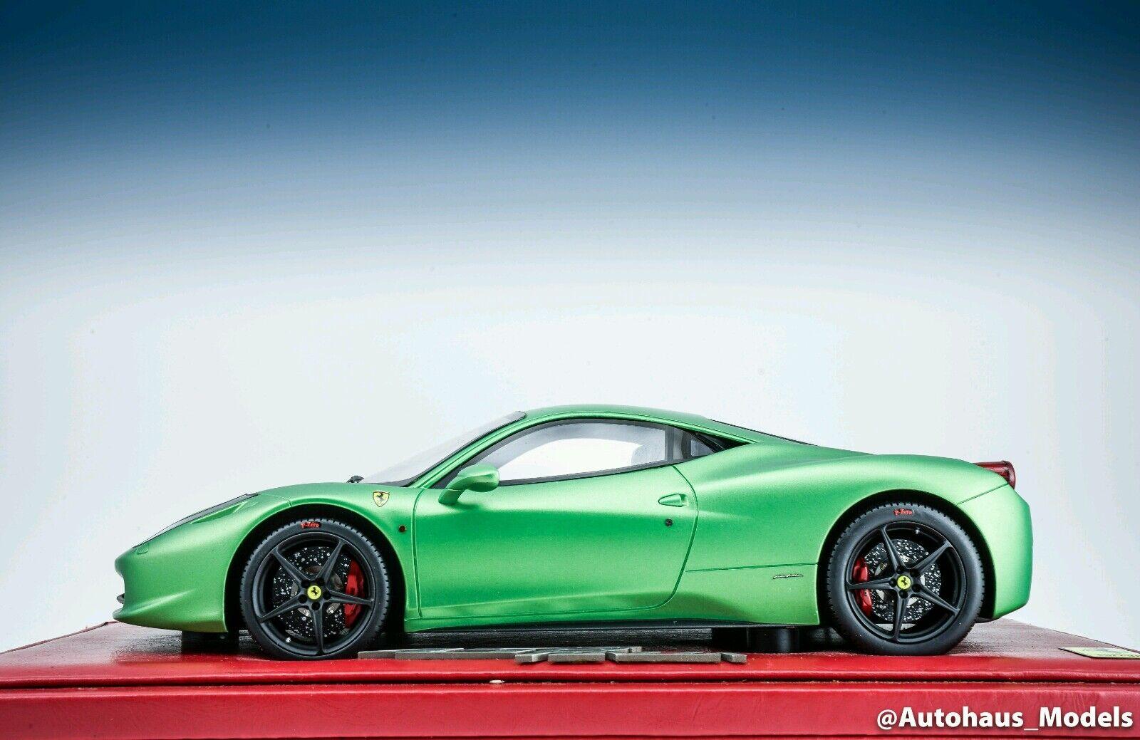 1:18 Bbr Ferrari  Italia Mate Verde Edición Limitada Rara