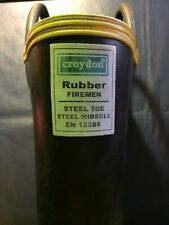 Croydon Rubber Firefighting Boots Size 8 En 12568