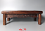 rare China antique mark Guangxu reign period FLOWER Pear wood Small table carvin