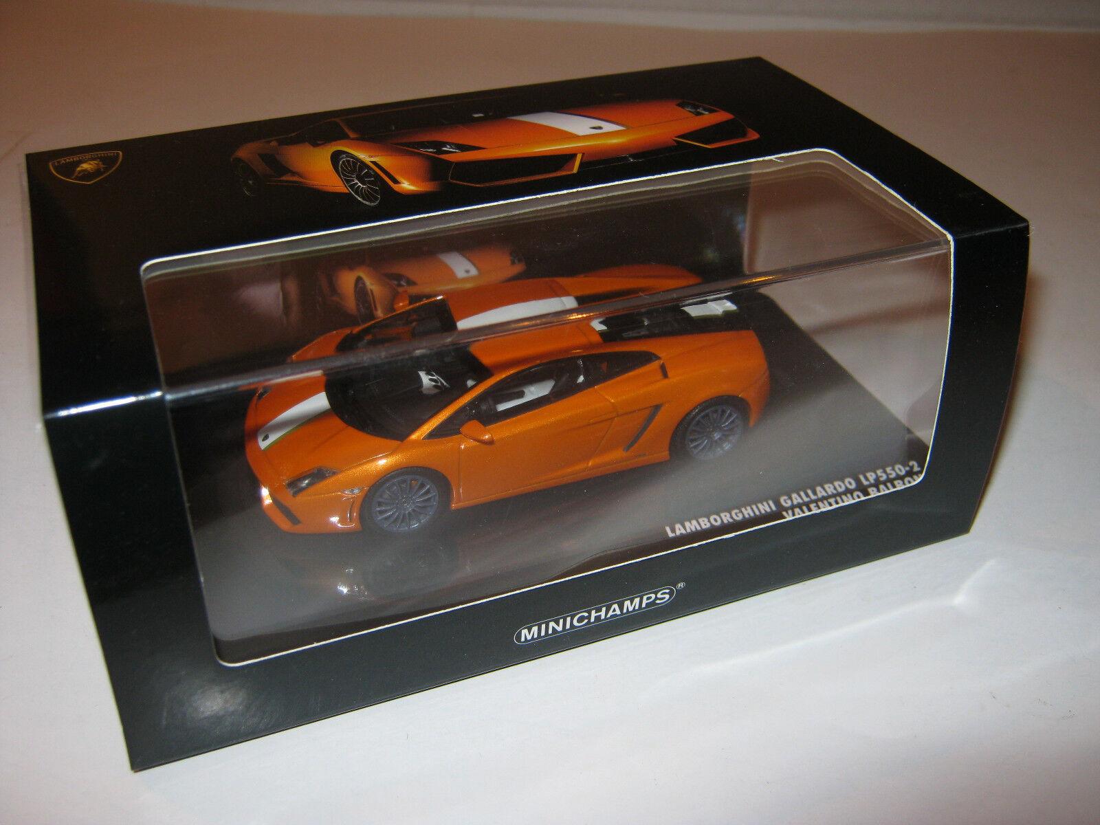 1 43 Lamborghini Gallardo lp550-2 V. BALBONI MINICHAMPS 436103802 le1008 OVP New