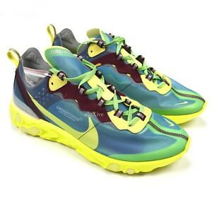 80fc3a795501 NWT Nike x Undercover Men s React Element 87 Lakeside Blue Yellow ...