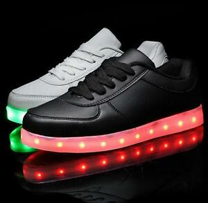 08e1b6538be Women Men s USB Charge Led Light Shoes Sportwear Sneakers Lovers ...