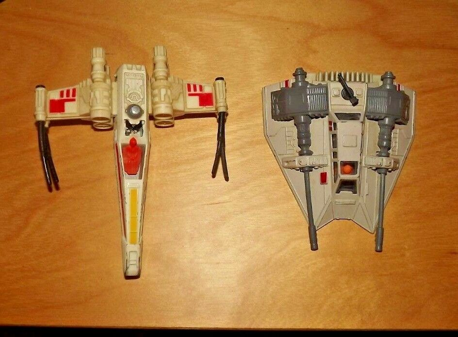 VINTAGE estrella guerras DIE CAST METAL X Wing combatiente e Neve Speeder