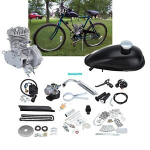 50cc-Bike-2-Stroke-Gas-Engine-Motor-Kit-DIY-For-Motorized-Bicycle-Cycle-Silver