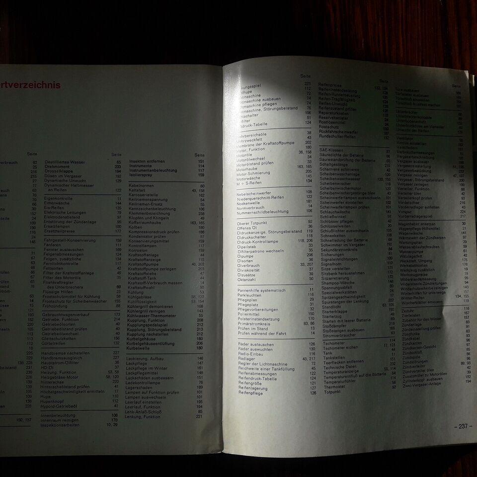 Værkstedshåndbog, Opel Kadett A --> juli '65