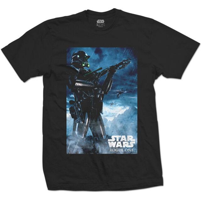 Star Wars - Rogue One Death Trooper Black T-Shirt Unisex Tg. XL ROCK OFF