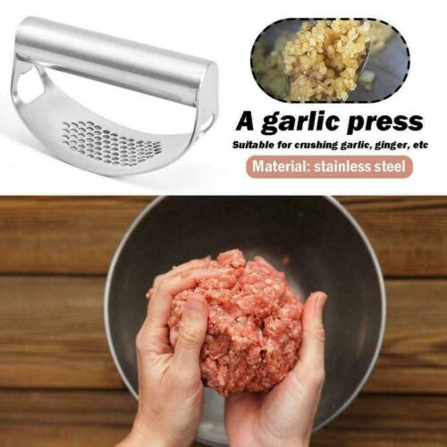NEW Stainless Steel Garlic Press Manual Rocking Crusher Squeezer Tool BEST-V5D3