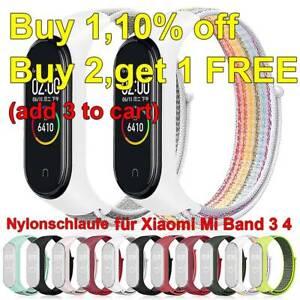 Nylonschlaufe-austauschbares-Armband-fuer-Xiaomi-Mi-Band-3-4-Sports-Armband