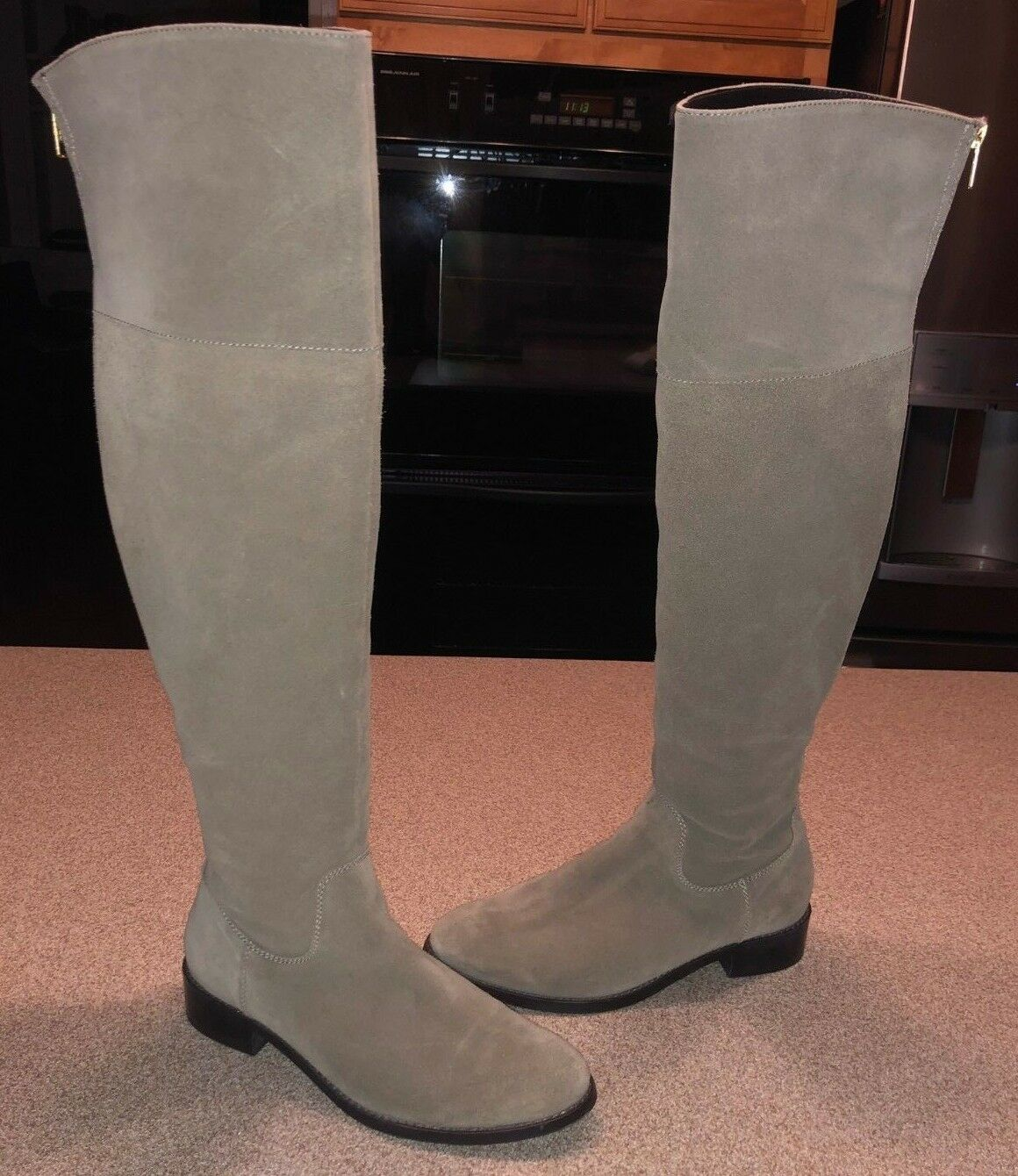 Women's Women's Women's Over-The-Knee Boots Diba True Thumbs Up Taupe Suede Size 7 RP 198 273416