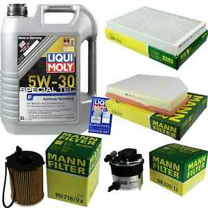 Inspection-Kit-Filter-Liqui-Moly-Oil-5L-5W-30-for-Volvo-V70-III-Bw-1-6-D-S80-II