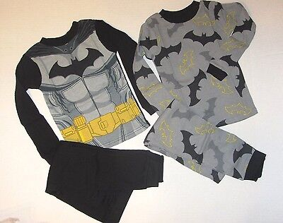NEW  Boys DC Comic BatmanLicense 4-piece Undergarment Thermal Pajama Set 6 8 10