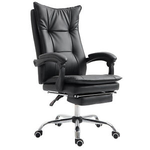 Ergonomic-Office-Chair-360-Napping-Reclining-Seat-w-Footrest-Black