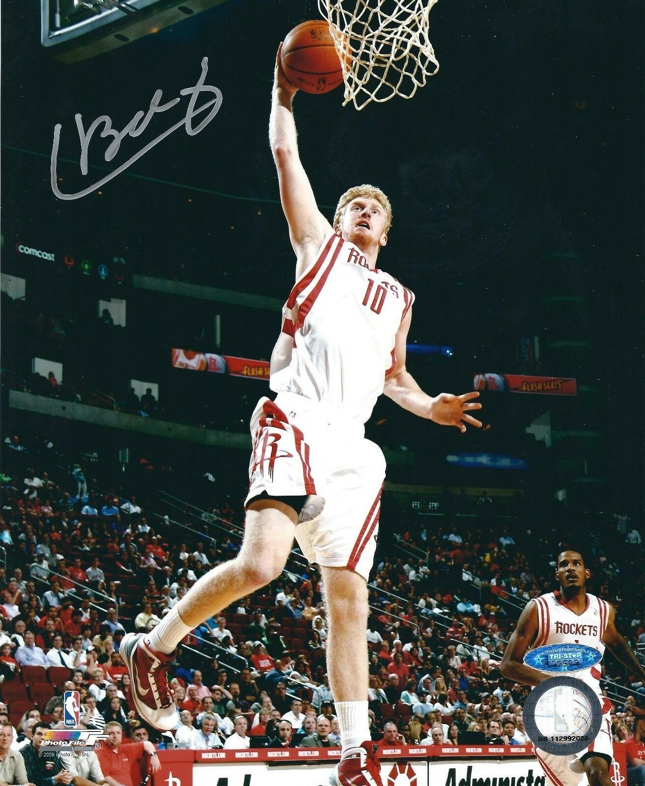 Chase Budinger Signed Houston Rockets Basketball 8x10 Photo Tri-Star 7032503