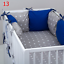PILLOW-BUMPER-made-form-6-cushions-for-cot-bed-GREY-PINK-BLUE-NAVY-STARS thumbnail 14