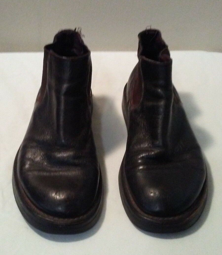 Creeper Chelsea Boot Black Size 8-8.5 Mens Leather Rubber Sole Owens Style Wide