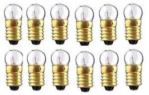 12-Twelve-1449-Clear-14v-BULBS-American-Flyer-S-Gauge-Scale-Trains-Parts