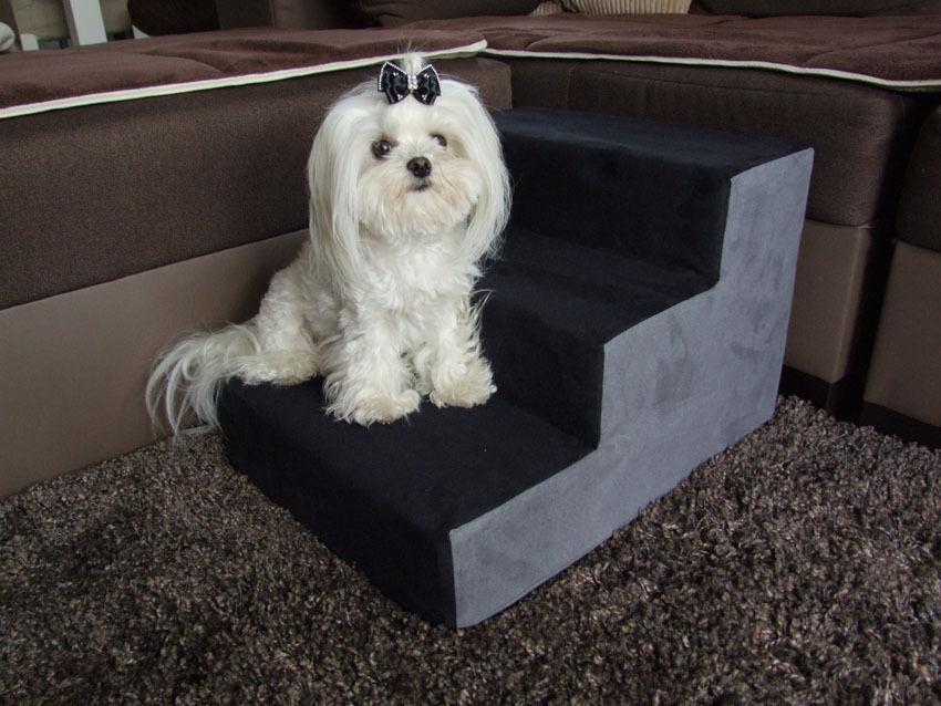 Hundetreppen,Tiertreppe Hundetreppe DogsZone nero-grigio Gr.S